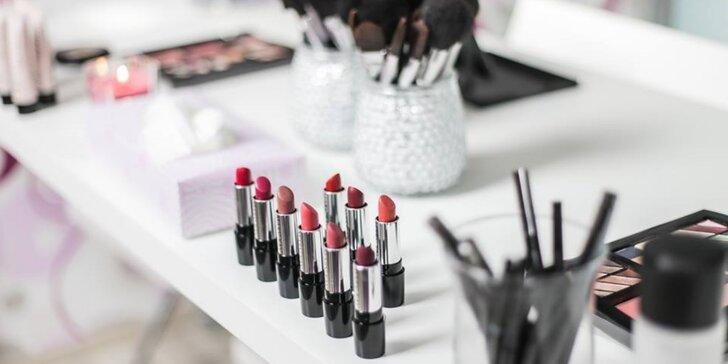 2hodinový kurz denního líčení s možností balíčku dekorativní kosmetiky