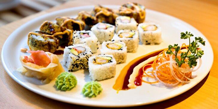 Sushi sety v dobře hodnocené restauraci UMAMI v centru města
