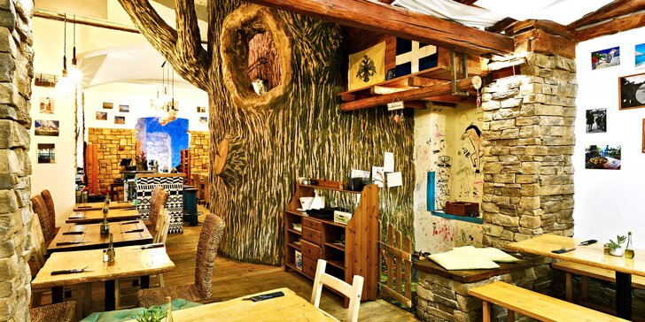 Řecko na Vinohradech: dárkový voucher na cokoli z menu taverny