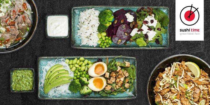 Vyzkoušejte nové menu v Sushi Time: kredit 500 Kč na cokoli z nabídky