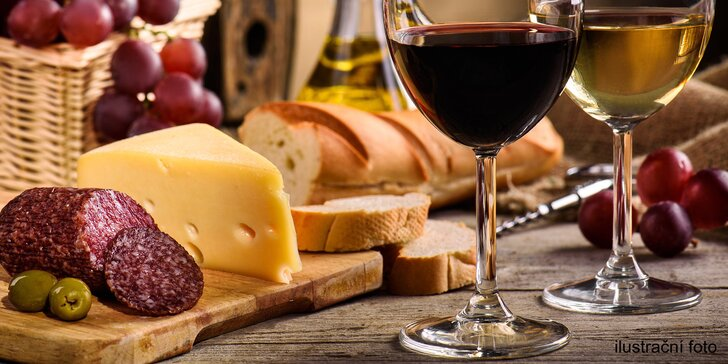 To nejlepší z Čech a Moravy: degustace 10 vín a pohoštění ve stylovém sklípku