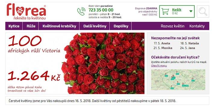 Florea.cz - řekněte to květinou