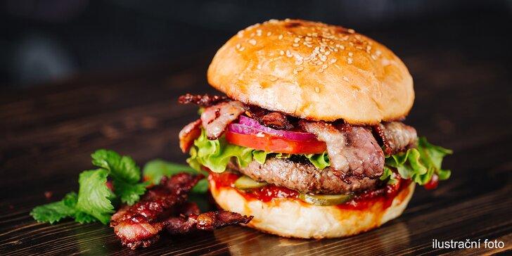 Poctivý burger s masem nebo bez ve Štruncových sadech