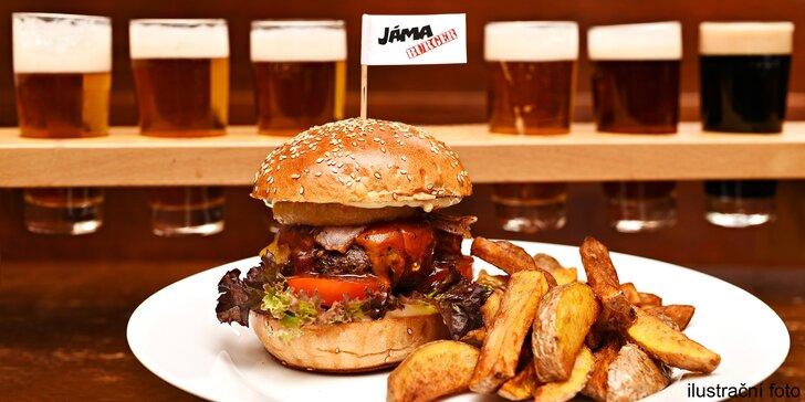 The Italian Stallion Burger, steakové hranolky a degustace 6 českých piv