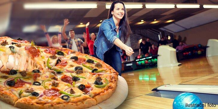 Pravá italská pizza a 60 minut skvělého bowlingu pro až 6člennou partu