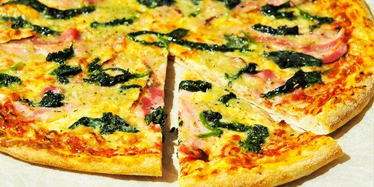 2x pizza podle výběru, ∅ 32 cm: Hawai, Funghi, Mexicana a další