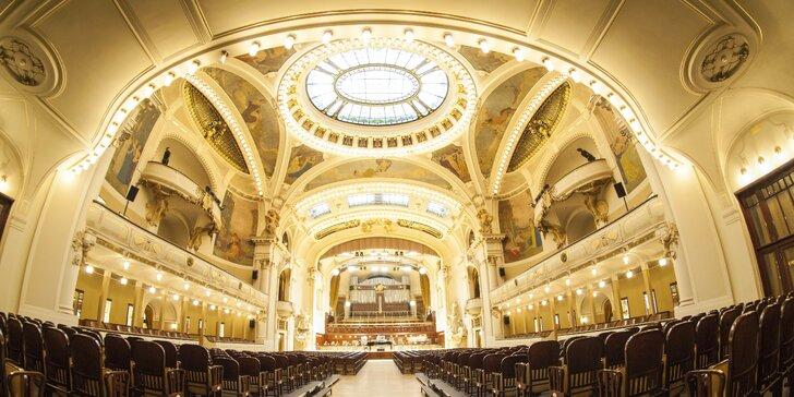 Baletní galapředstavení se zpěváky a orchestrem v Obecním domě