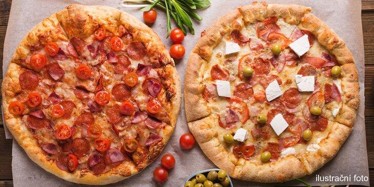 Smlsněte si na 2 pizzách dle chuti: i vegetariánská a veganská varianta
