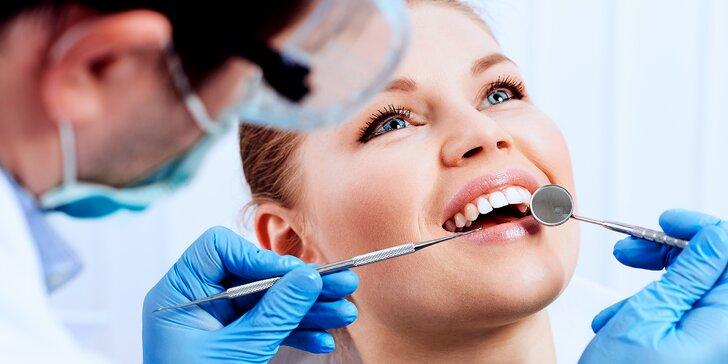 Dentální hygiena a bělení zubů gelem a modrým laserovým světlem
