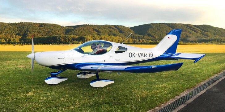 Do oblak: Zážitkové lety moderními sportovními letouny na 20, 30 i 60 min.