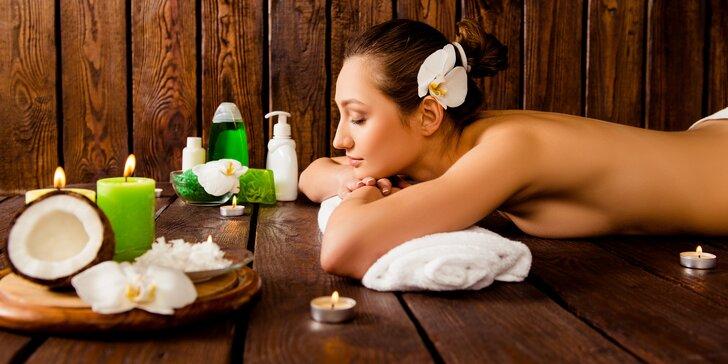 Luxusní masážní rituály: kokosový či chladivý regenerující, 60 minut