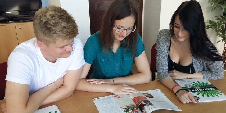 Záloha na roční intenzivní pomaturitní studium angličtiny nebo španělštiny