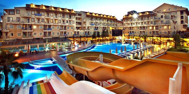 7 nocí v Turecku: 5* hotel s all inclusive, tobogány, celodenní animace pro děti