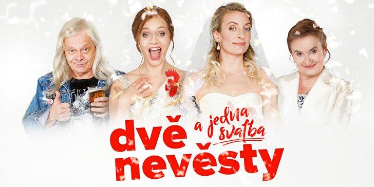 Dvě nevěsty a jedna svatba: 2 vstupenky na novou českou komedii
