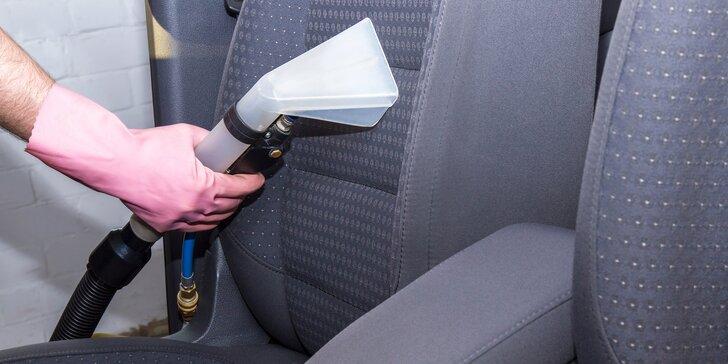 Tepování sedaček, kufru a dveří vč. dezinfekce ozonem pro krásně čisté auto