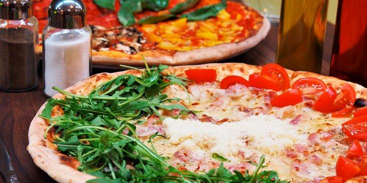 2 házené pizzy v centru Brna: na výběr 20 druhů včetně vege variant