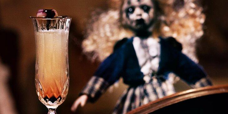Hororové koktejly ve Fear house: s Proseccem, s ginem nebo Stolichnaya Elit