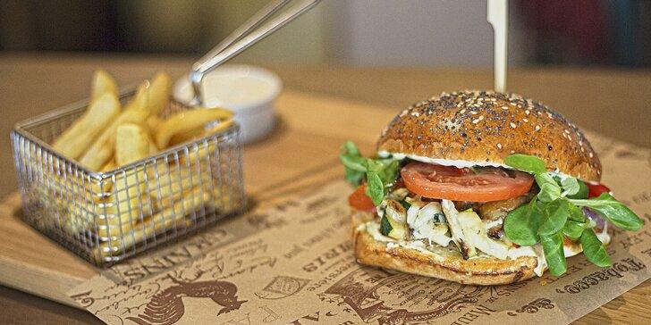 Skvělé burgery v La Bastille: hovězí, kachní nebo vegetariánský s ratatouille