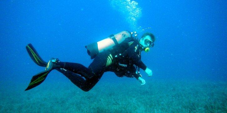 Potápěčský víkend pro začátečníky: přístrojové potápění v zatopeném lomu