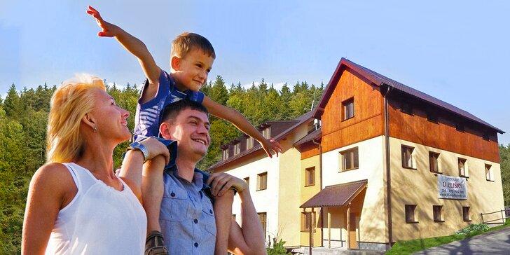 Aktivní letní pobyt v Jizerských horách: 3 až 6 dní s polopenzí pro dva