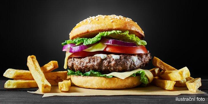 XXL burgery s masem od řezníka v domácí máslové bulce