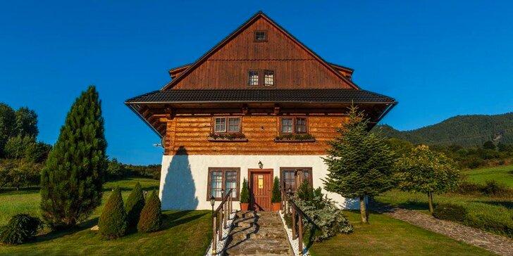 Kouzelný pobyt v rustikální srubové kolibě na Liptově pod Tatrami pro 2