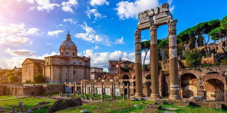 Poznávací zájezd do Říma s koupáním u moře, ubytováním na 2 noci a snídaní