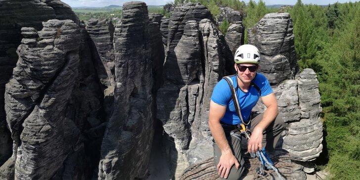 Cesta vzhůru: Celodenní lezení pro dvě osoby na pískovcových skalách