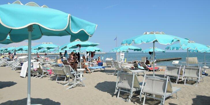 Dovolená v italském Caorle v apartmánu 180 m od pláže, 300 m od centra