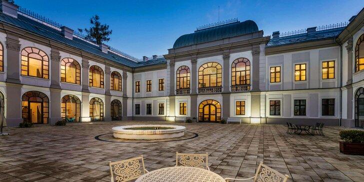 Pobyt na zámku v Považské Bystrici s polopenzí, wellness a cvičením jógy