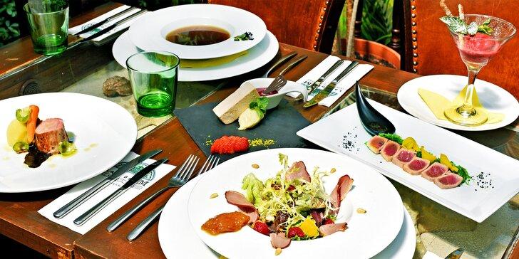 6chodové menu v La Bodeguita del Medio: kachna, tuňák, panenka i dezerty