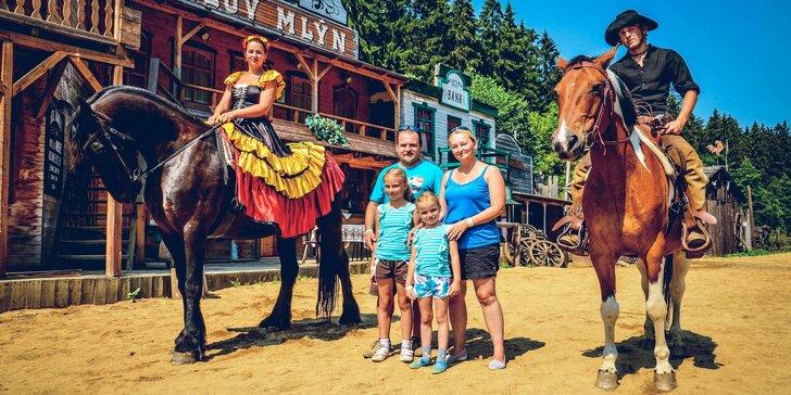 Celodenní vstup do westernového městečka pro děti i dospělé + atrakce