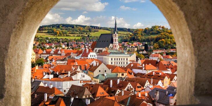 Moderní ubytování v Českém Krumlově: 15 minut od centra, i letní termíny