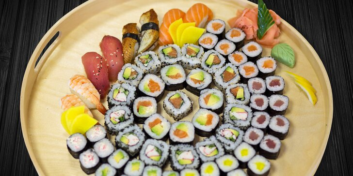 Sushi boxy na váš stůl: až 68 čerstvých kousků v setech pro 1, 2 či 4 osoby