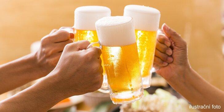 Pivo z tradičního chudenického pivovaru, třeba i se zvěřinovou paštikou
