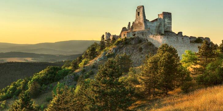 Aktivní pobyt pro 2 s polopenzí jen kousek od Čachtického hradu s legendou