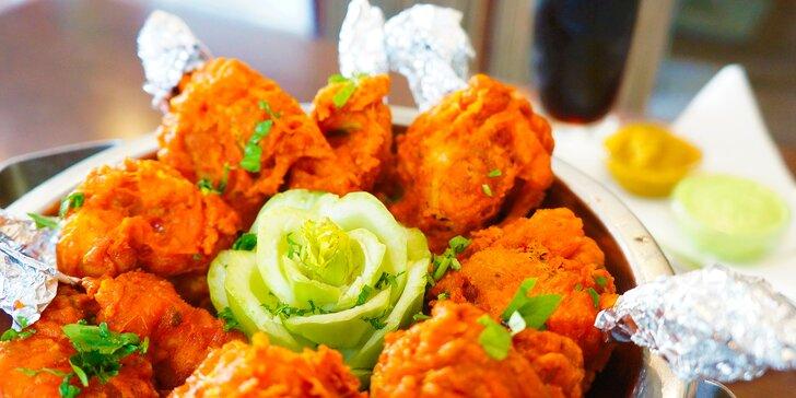 Chicken lollipop: 8 smažených kuřecích křídel po indicku a 0,5l nápoj pro 2