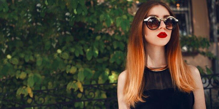 Moderní barvení vlasů ombre včetně regenerace a střihu