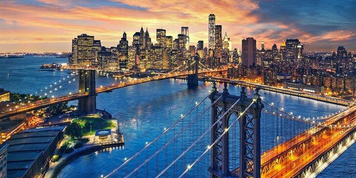 Zažijte energii New Yorku: záloha na zájezd na 4 noci s průvodcem a letenkou
