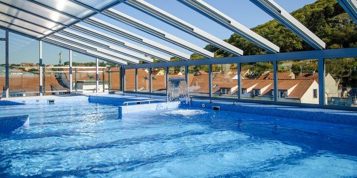 Luxusní srpnový relax v prosluněném Mikulově: wellness s bazénem na střeše