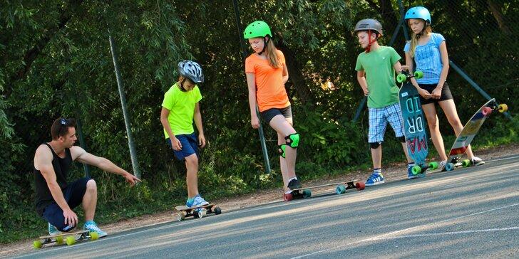 Příměstský longboard tábor pro děti od 7 do 15 let na Chodově