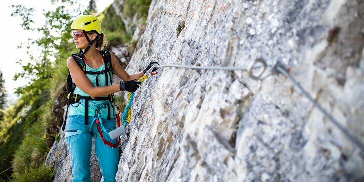 Polodenní zážitkový kurz Via ferrata lezení pro začátečníky v Bechyni