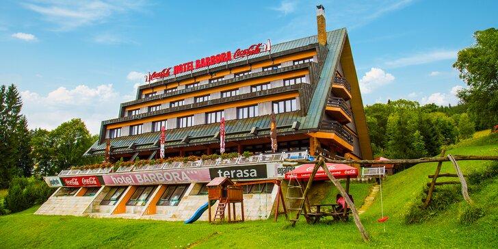 Aktivně-relaxační pobyt ve Špindlu s bohatou polopenzí a privátním wellness