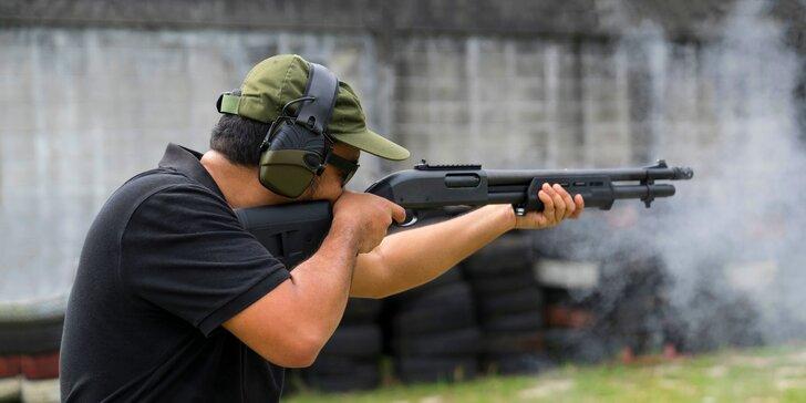 Střelecký zážitek: pistole, puška i brokovnice, až 4 zbraně a 32 ran