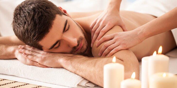 Relaxační masáž pro úlevu vašeho svalstva: 60 min., 90 min. i pernamentka