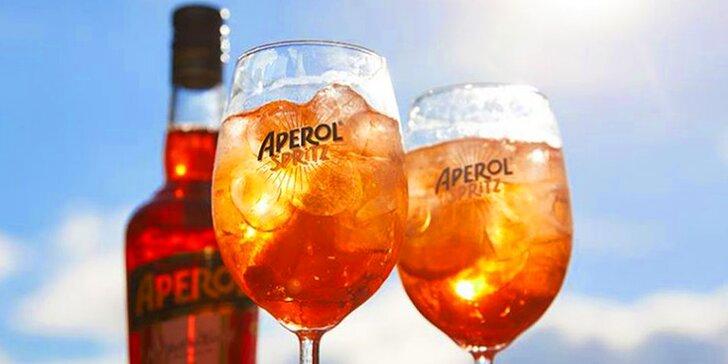 Osvěžte se: 2 míchané drinky Aperol Spritz na Palackého třídě