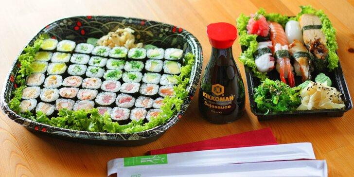 Sushi sety jak ze sna: pochoutky pro vegetariány i sépie či marinovaný úhoř
