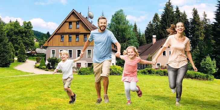 Rodinný pobyt v Jizerských horách: polopenze a 2 děti do 11,9 let v ceně