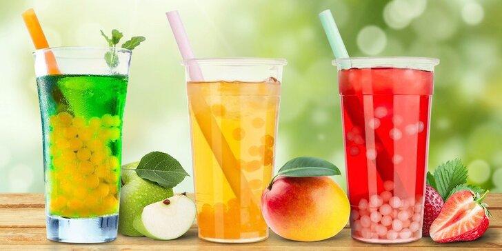 Šťavnaté letní osvěžení: Bubble Tea o objemu 0,7 l dle výběru
