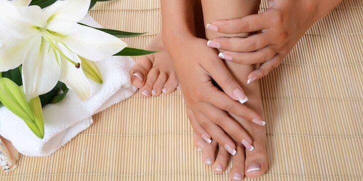 Profesionální manikúra nebo mokrá pedikúra s možností aplikace gel laku